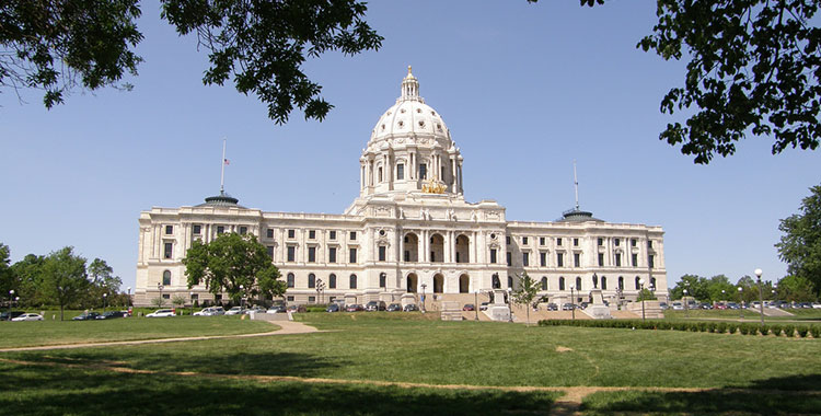 The capitol building of Minnesota in St. Paul.