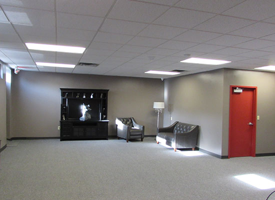 Inside-view of the Etain medical cannabis dispensary in Albany, New York.