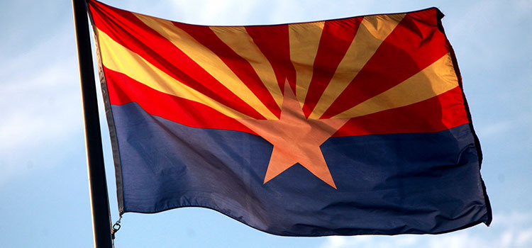 The Arizona state flag.