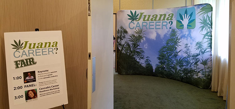 Entrance to the Juana Career fair, held Sunday, September 18 in Bellevue, WA.