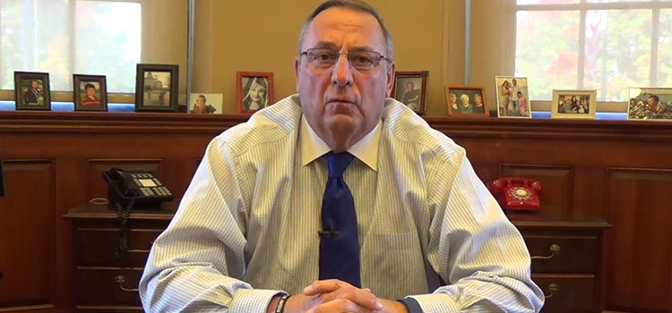 Maine's Governor Paul LePage, an outspoken prohibitionist and cannabis critic.