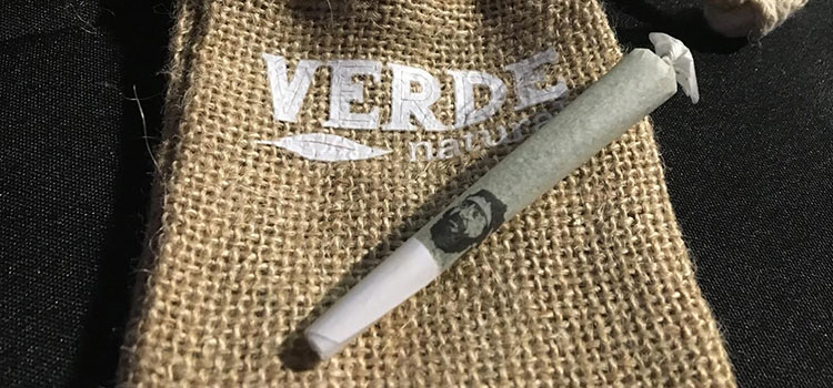 A Chong's Choice pre-rolled joint, produced and manufactured by Verde Natural in Colorado.