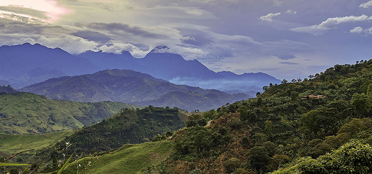 The mountainous Jardin region of Colombia.