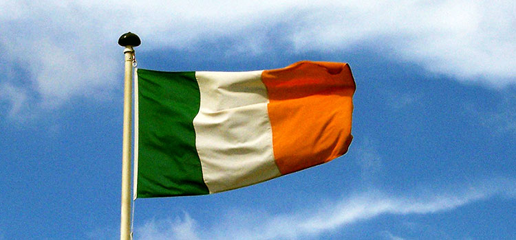 The flag of Ireland.