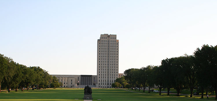 The capitol building of North Dakota.