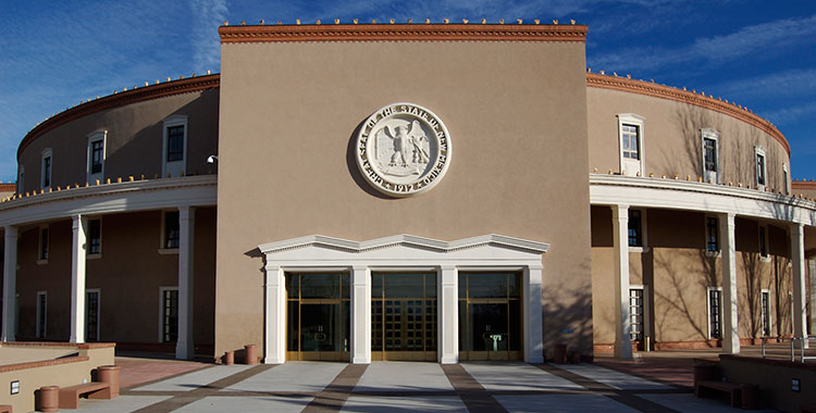 The state capitol building of New Mexico, in Santa Fe.