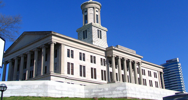 The capitol building of Tennessee.