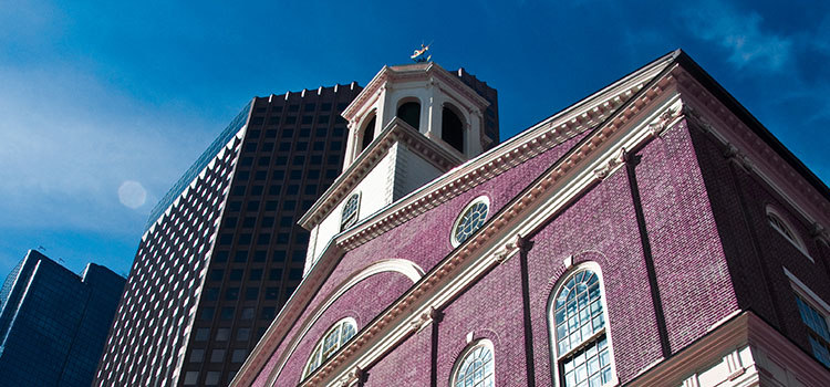 Faneuil Hall in Boston, Massachusetts.