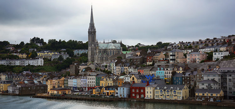 Cobh Ireland, a city on Ireland's southern coast.