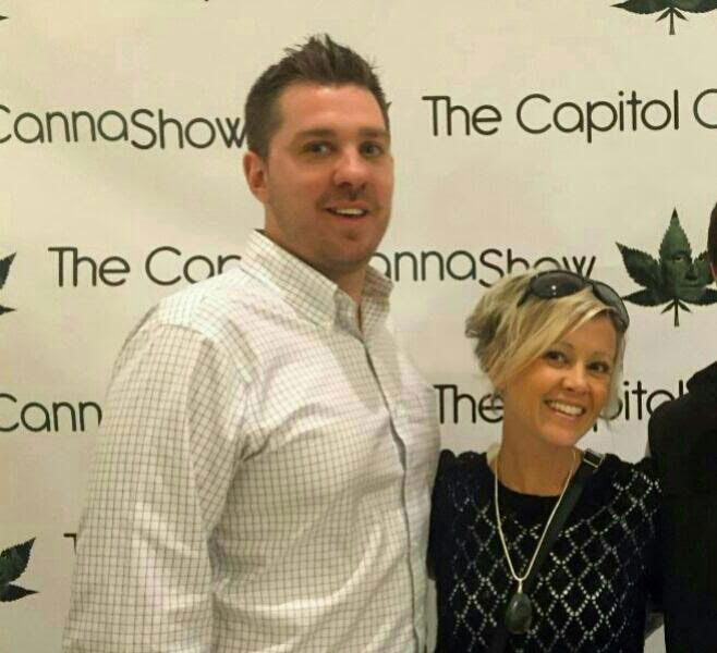 Mary Pat Hoffman (right) with dispensary partner Anthony Darby (left) at the Capitol Canna Show in Washington DC.