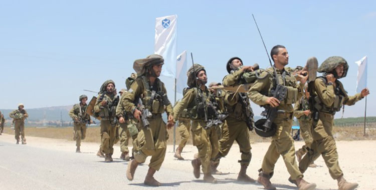 Soldiers celebrating in Israel.