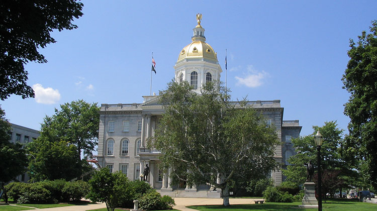 The New Hampshire capitol building in Concord, New Hampshire.