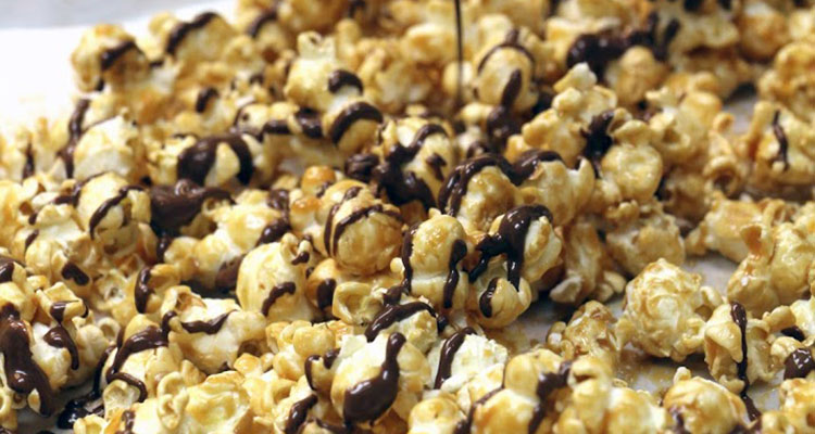 Infused chocolate-covered popcorn, photographed in Washington D.C.