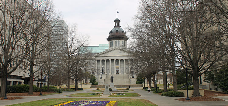 The South Carolina capitol building in Columbia, SC.