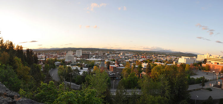Panorama view of Spokane, Washington.