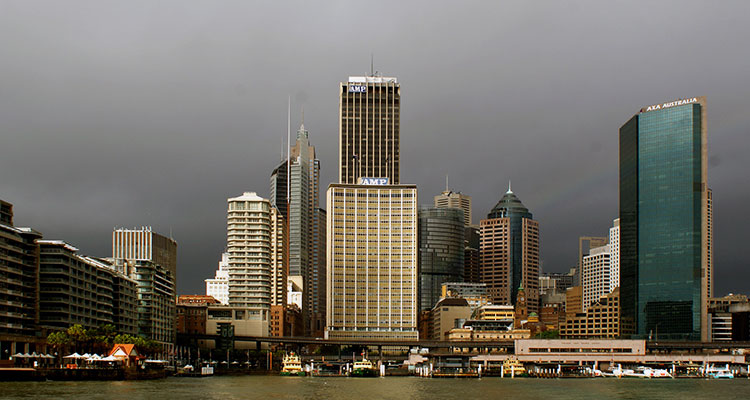 City skyline in Sydney, Australia.