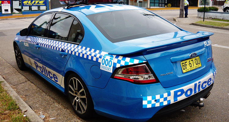 Car operated by the New South Wales Police Highway Patrol.