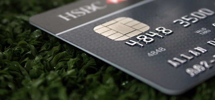 A black credit card from the New York-based HSBC bank.