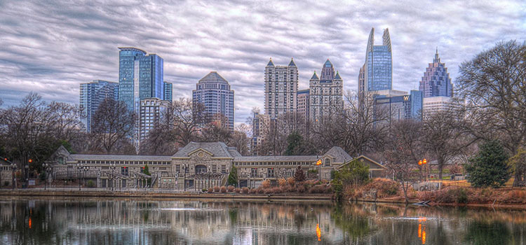 Picture of the Atlanta, Georgia city skyline.