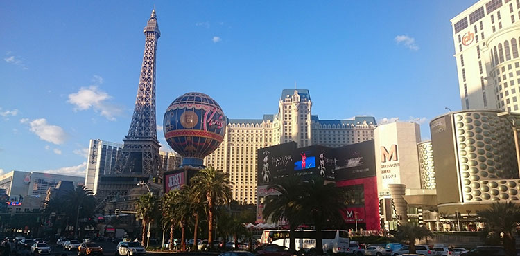The Eiffel tower in Las Vegas.