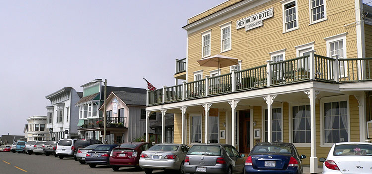 The Mendocino Hotel in Mendocino, California.
