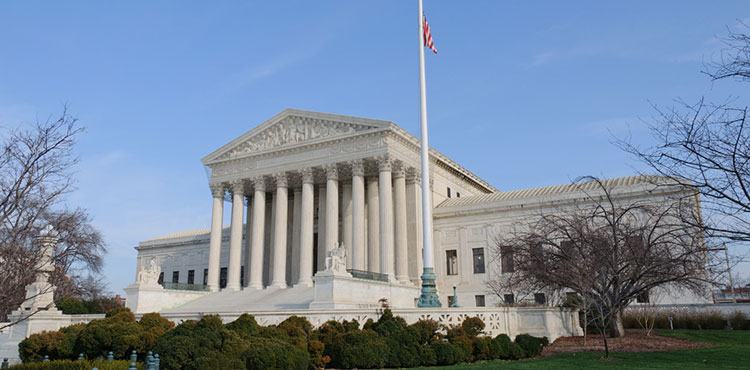 The U.S. Supreme Court in Washington D.C.