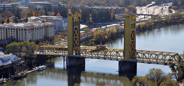 Tower Bridge in Sacramento, California.