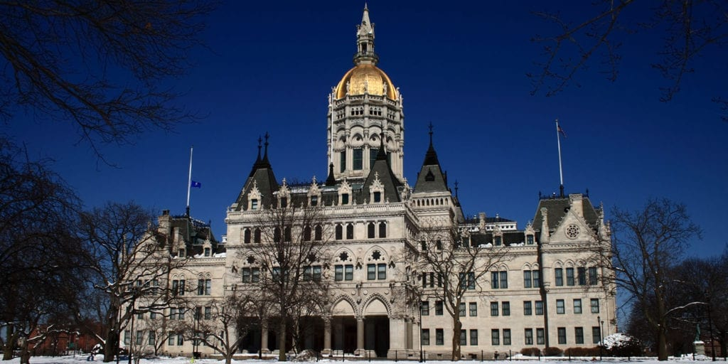 The Connecticut Capitol Building in Hartford, Connecticut.