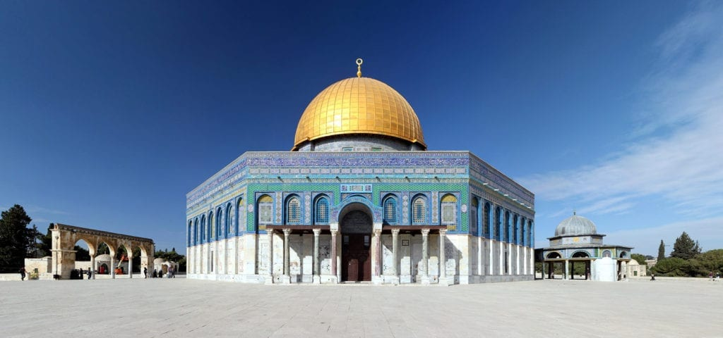 The Dome of the Rock temple in Jerusalem, Israel.