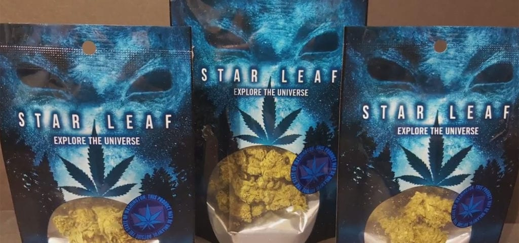 Star Leaf branded cannabis arrives March 1 at participating locations in Tacoma, Washington.