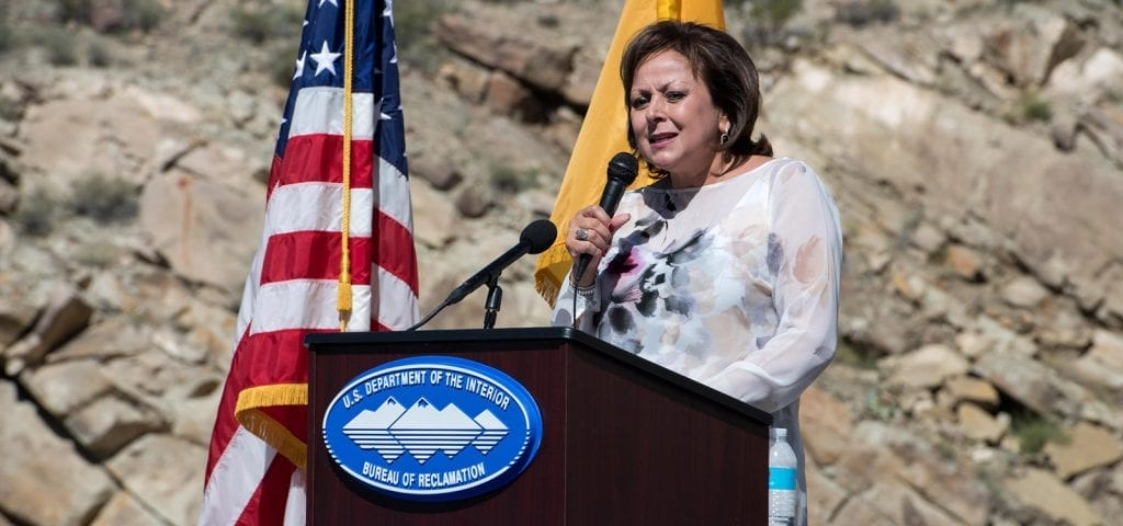 Susana Martinez, the Governor of New Mexico, speaking at a Bureau of Reclamation event.