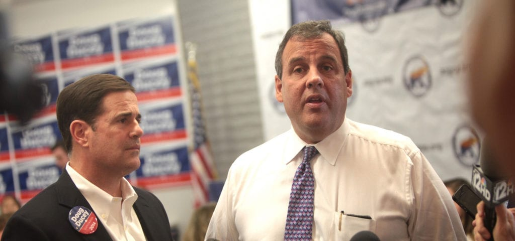 Chris Christie at a political event with Doug Ducey.