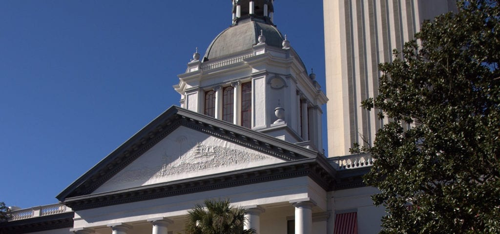 The Florida State Capitol building in Tallahassee, Florida.