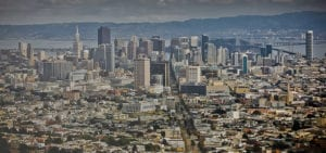Skyline view of downtown San Francisco.