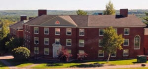 A red brick building on the New Brunswick University campus.