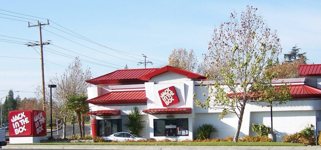 Picture of a Jack in the Box franchised location.