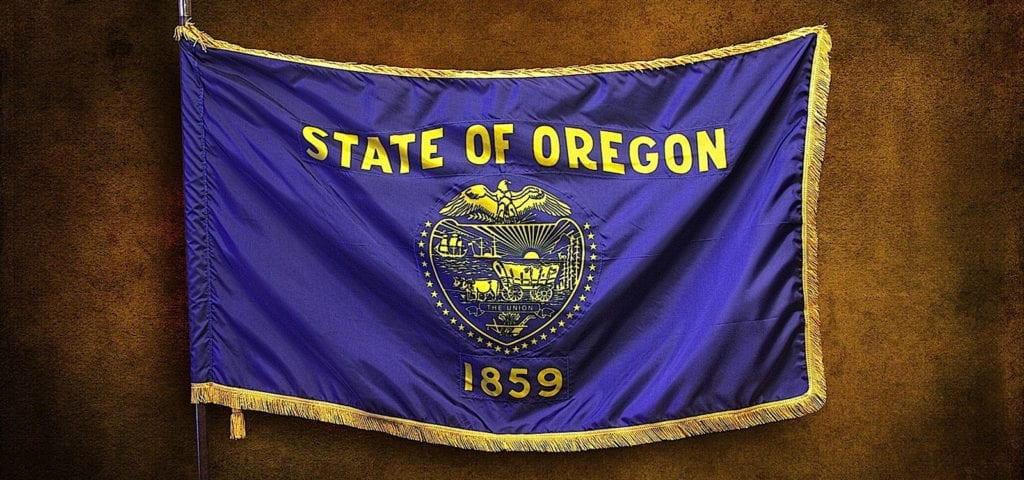 The Oregon state flag.