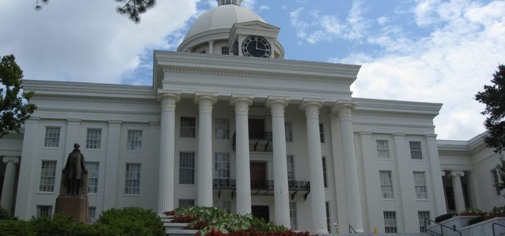 The Alabama state capitol building.