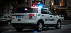 A police SUV from Providence, Rhode Island.