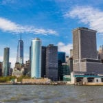 Photo of Staten Island in New York, captured from the Staten Island Ferry.