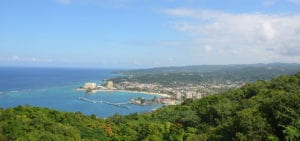 View of the Ochio Rios bay photographed from a nearby hillside.