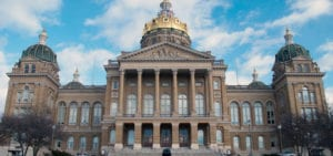 The Iowa State Capitol Building in Des Moines, Iowa.