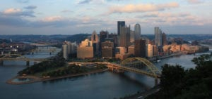 Pittsburgh downtown from the Duquesne Incline overlook
