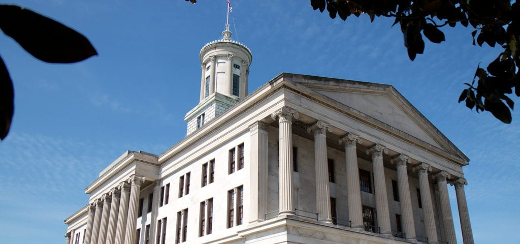 Photograph of the Tennessee Capitol Building in Nashville, Tennessee.