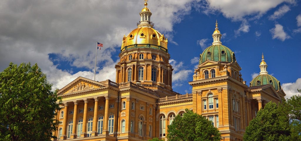 The Iowa State Capitol Building in Des Moines.