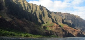 Mountain Range on Kaua'i island, Hawaii.