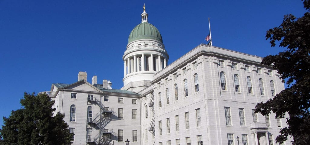 The Maine State Capitol Building in Augusta, Maine.