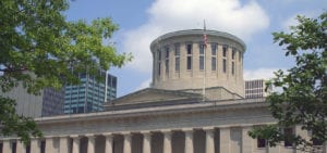 Ohio State Capitol Building in Columbus, Ohio.
