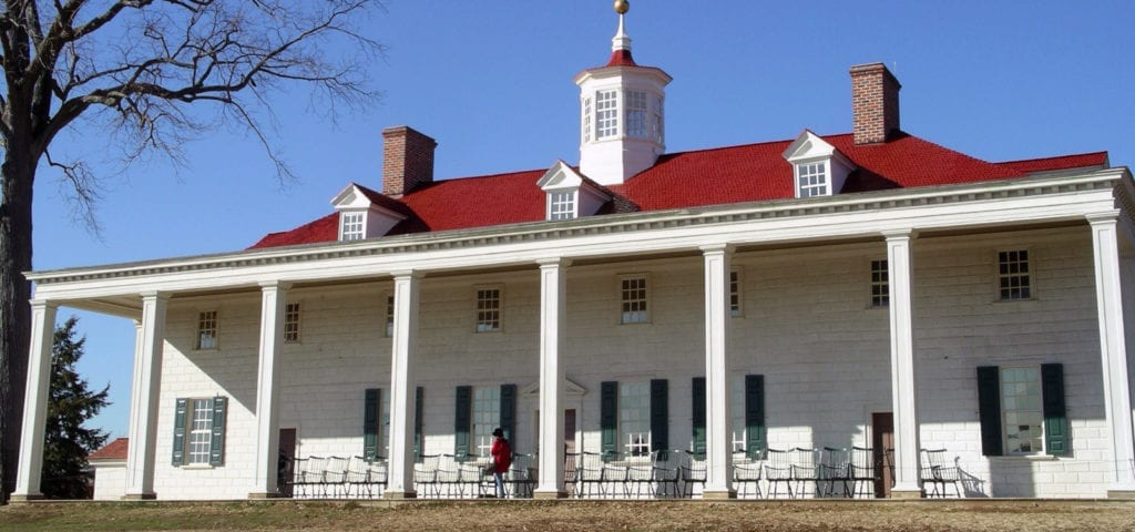The estate of President George Washington, located in Mount Vernon, Virginia.