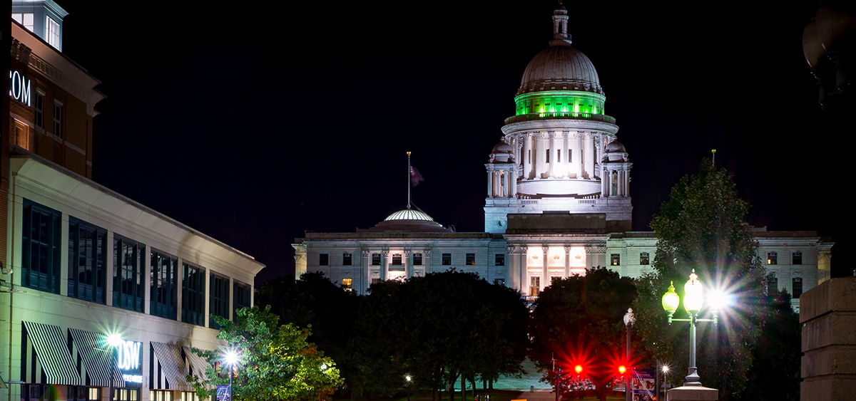 photo image Rhode Island Gov. Calls for Legalization